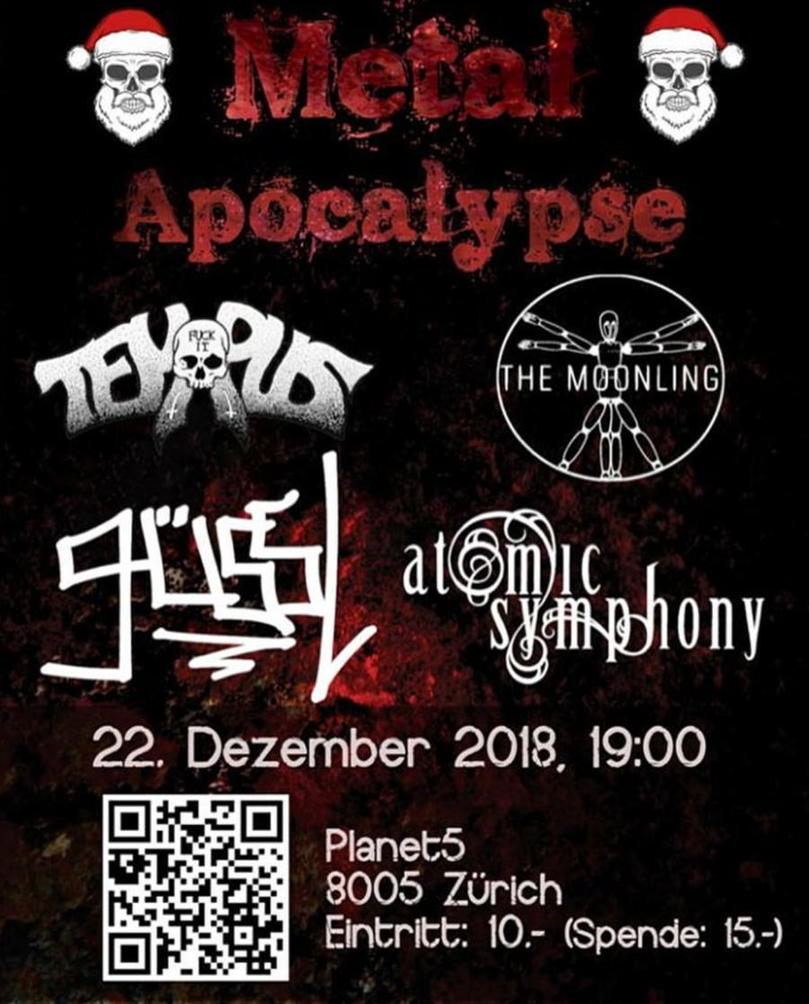 Metal Apocalypse / Planet5 / 22. Dezember 2018, 19:00 / Flyer